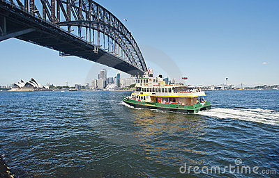 Luna Park ferry heading to the city Editorial Stock Image