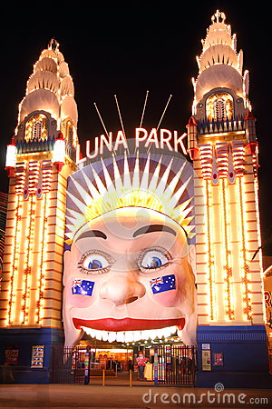 Luna Park at night Editorial Photography