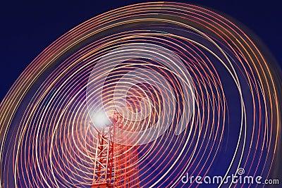 Luna Park Wheel Blur Segment