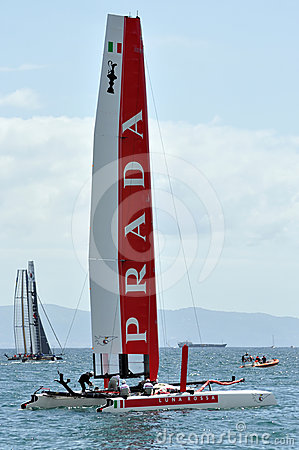 Free Luna Rossa: Prada Team Stock Images - 24299264