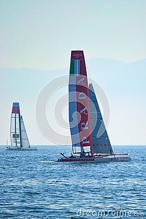 Luna Rossa Swordfish and China Team