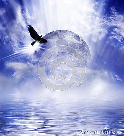 Luna sobre el agua