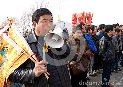 The lunar New Year celebration in 2013 Editorial Image