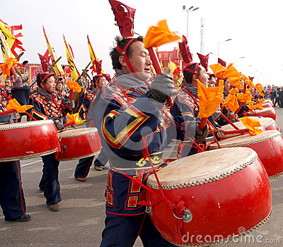 The lunar New Year celebration in 2013 Editorial Stock Photo