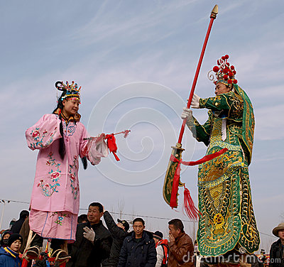The lunar New Year celebration in 2013 Editorial Stock Image