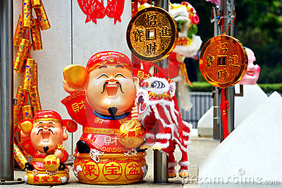 Lunar new year decorations Editorial Photography