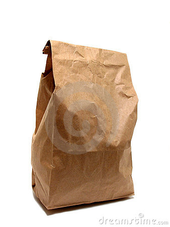 Free Lunch Bag Paper Royalty Free Stock Image - 473456