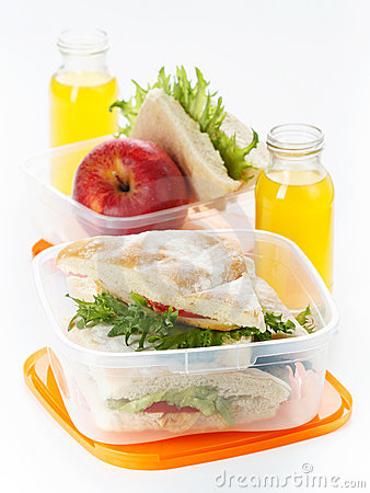 Free Lunch Box Royalty Free Stock Images - 21770419