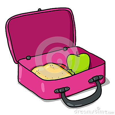 Free Lunch Box Illustration; Kids Lunchbox  Royalty Free Stock Photography - 26659137