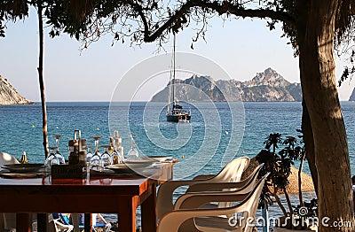 Lunch at Es Vedra, Ibiza Island (Cala D Hort)