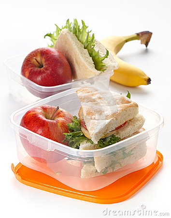 Lunch pudełkowata kanapka