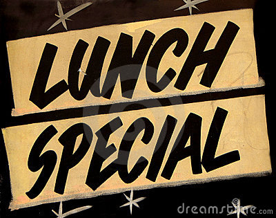 Lunch Special Cafe Stock Images Image 23077544