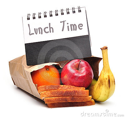Lunch time - clipping path