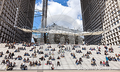 Lunch Time in La Defense Editorial Image