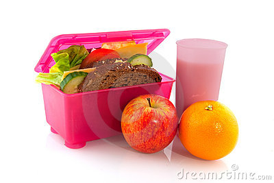 Lunchbox with healthy meal