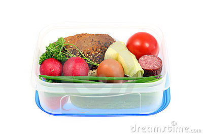 Lunchbox on white.