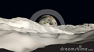 Lune pour musarder la vue