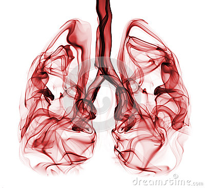 Free Lung Cancer Illustrated As Smoke Shaped As Lungs Stock Photos - 34306713