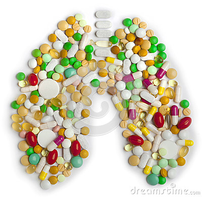 Lung of pills and capsules