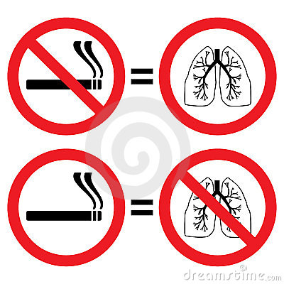 Lung protection from smoking sign