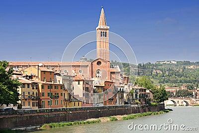 Lungadige Verona in Verona, Italy