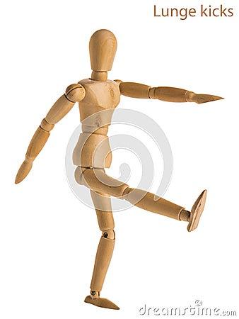 Free Lunge Kicks Pose Stock Photos - 92735103