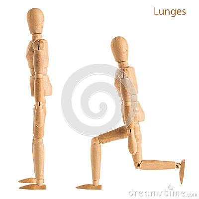 Free Lunges Pose Stock Photography - 89188722