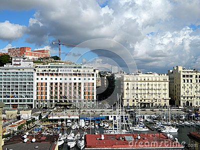 Lungomare in Naples Editorial Photography
