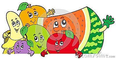 Lura för tecknad filmfrukter