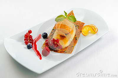 Luscious dessert on a plate