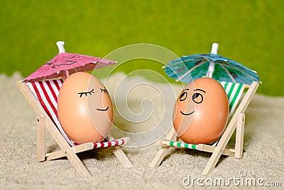 lustige eier ostern unter regenschirm stockfoto bild 51714073. Black Bedroom Furniture Sets. Home Design Ideas