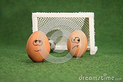 lustige eier und fu ball ziel und neidei stockfoto bild 41738159. Black Bedroom Furniture Sets. Home Design Ideas