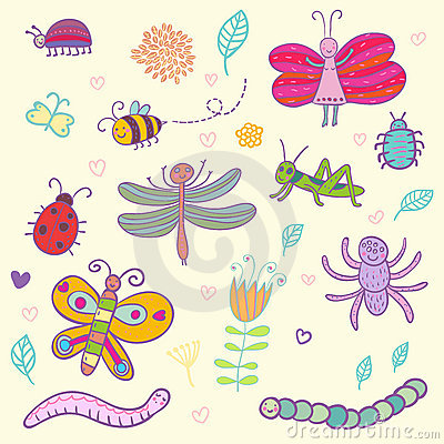Lustige Insekte