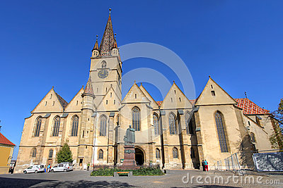 Lutheran Cathedral in Sibiu, Romania Editorial Image