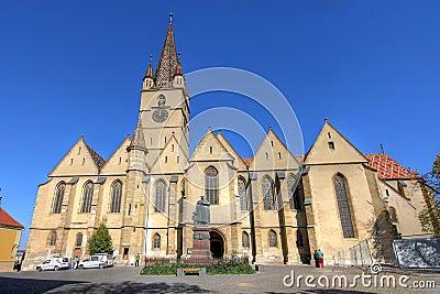 Lutheran Cathedral in Sibiu, Romania Editorial Image