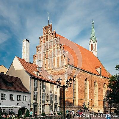 Free Lutheran St. John S Church, Riga, Latvia Royalty Free Stock Images - 61838829