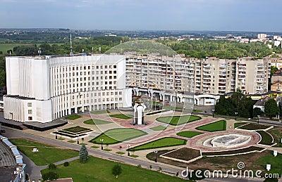 Lutsk, Ukraine - aerial view