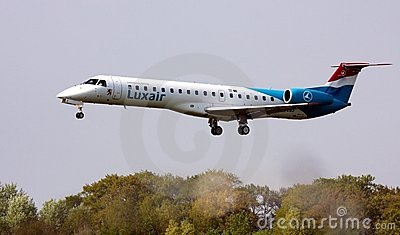 Luxair ERJ-145 Editorial Stock Image