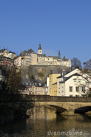 Luxembourg bridge over river