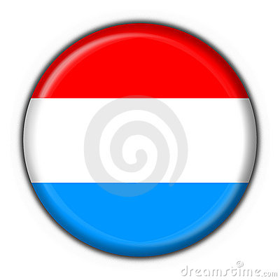 Luxembourg button flag round shape