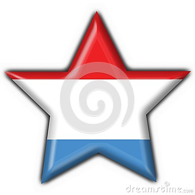 Luxembourg button flag star shape