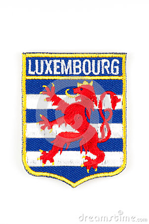 Luxembourg coat of arms patch