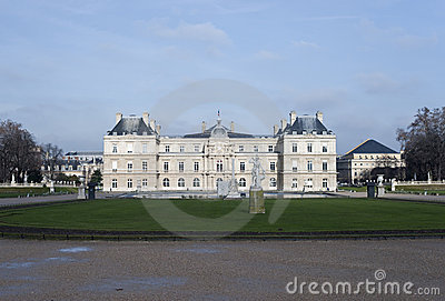 Luxembourg garden and palace view