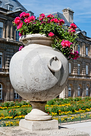 Luxembourg gardens ornamental flowers, Paris