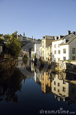 Luxembourg Grund quarter and river Alzette