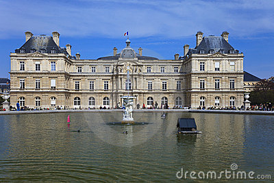 Luxembourg Palace in Paris. France.