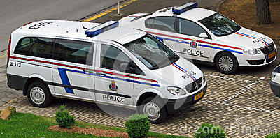 Luxembourg police vehicles Editorial Photography