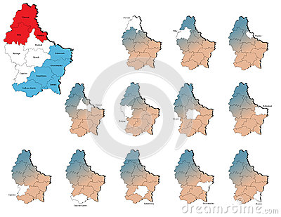 Luxembourg provinces maps