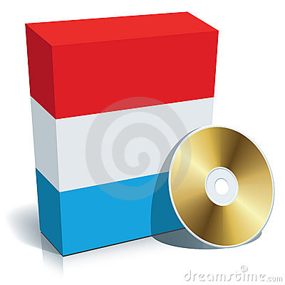 Luxembourgian software box and CD