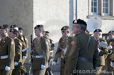 Luxembourgish soldiers orchestra Editorial Photography